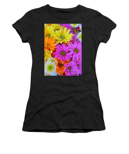 Colorful Daisies Women's T-Shirt (Athletic Fit)