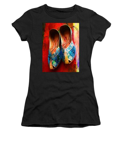 Colorful Footwear Juttis Sales Jaipur Rajasthan India Women's T-Shirt (Athletic Fit)