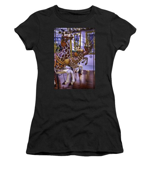 Colorful Giraffes Carrousel Women's T-Shirt