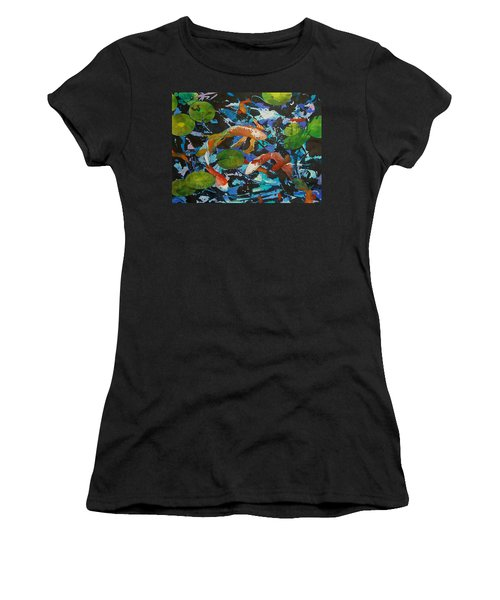 Colorful Koi Women's T-Shirt (Athletic Fit)