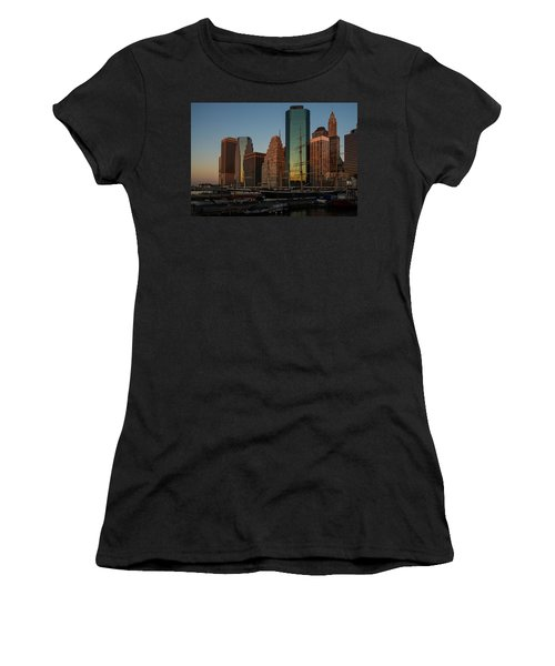 Women's T-Shirt (Junior Cut) featuring the photograph Colorful New York  by Georgia Mizuleva