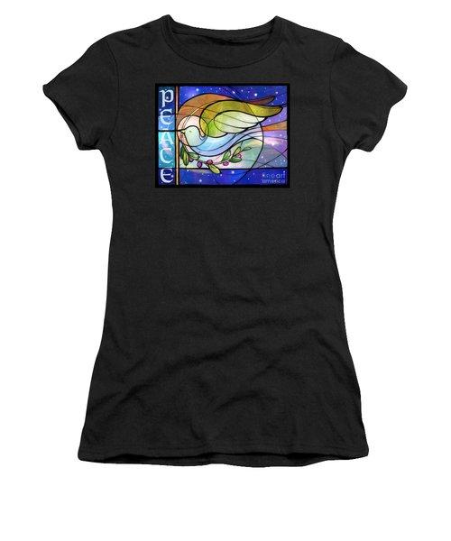 Colorful Peace Dove Women's T-Shirt