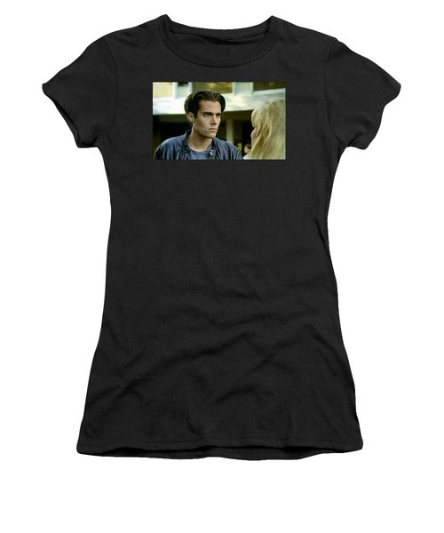 Women's T-Shirt (Junior Cut) featuring the painting Come On Bobby by Luis Ludzska