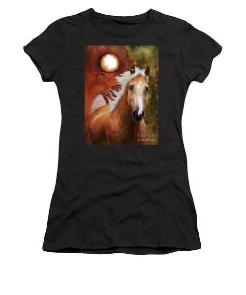 Women's T-Shirt (Athletic Fit) featuring the photograph Comin' Home by Melinda Hughes-Berland