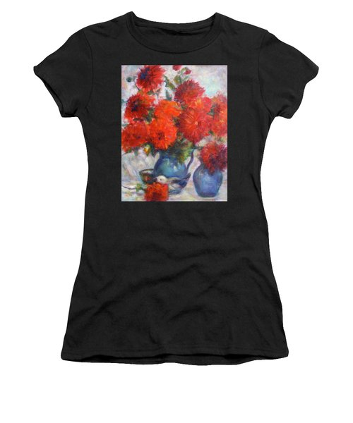 Complementary - Original Impressionist Painting - Still-life - Vibrant - Contemporary Women's T-Shirt