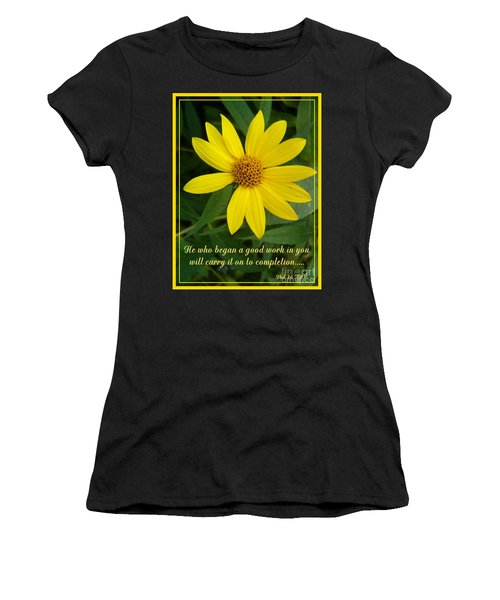 Completion Women's T-Shirt (Junior Cut) by Sara  Raber