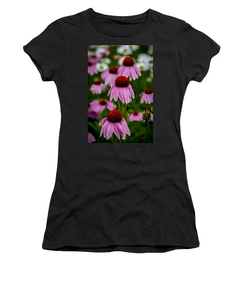 Coneflowers In Front Of Daisies Women's T-Shirt (Athletic Fit)