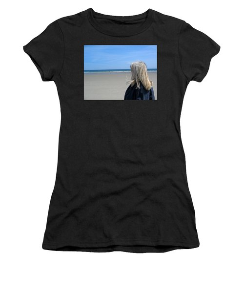 Contemplating The Stillness Women's T-Shirt (Athletic Fit)