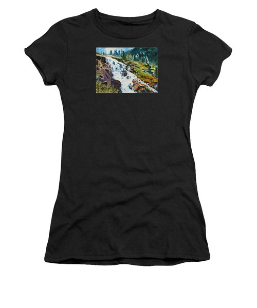 Continental Falls Women's T-Shirt (Athletic Fit)