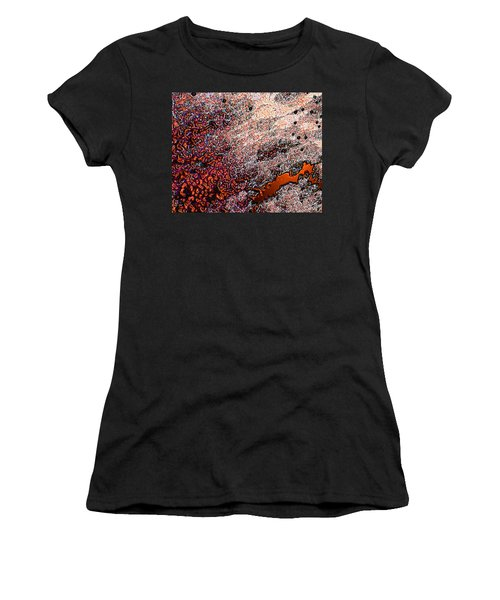 Women's T-Shirt (Junior Cut) featuring the photograph Copperspill by Stephanie Grant