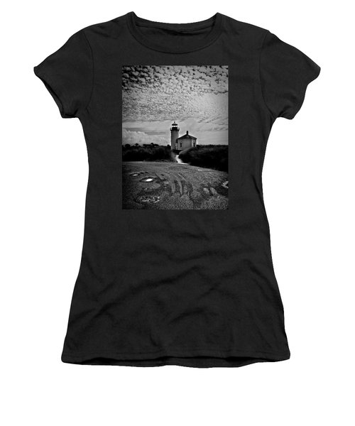 Coquille River Lighthouse Women's T-Shirt (Junior Cut) by Melanie Lankford Photography