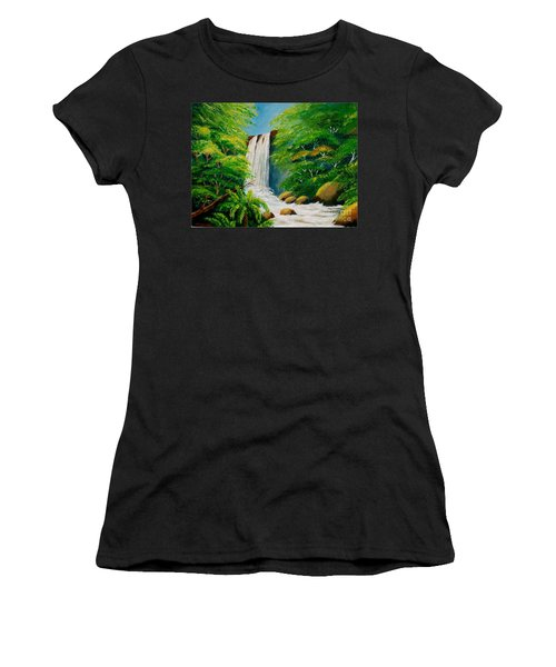 Costa Rica Waterfall Women's T-Shirt