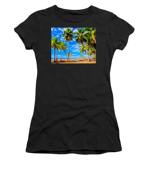 Women's T-Shirt (Junior Cut) featuring the painting Costa Rican Paradise by Michael Pickett
