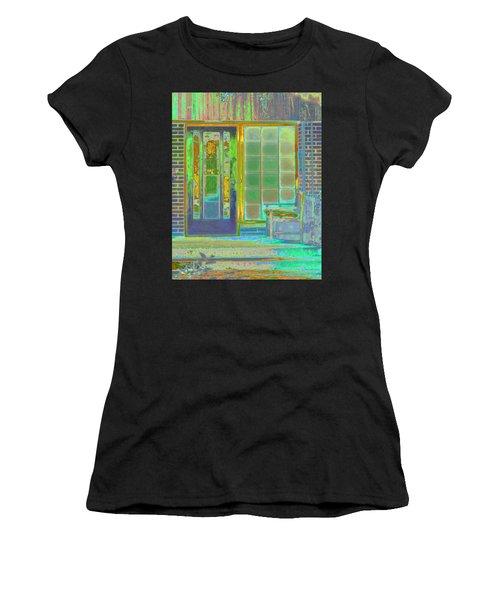 Cottage Porch Women's T-Shirt (Athletic Fit)