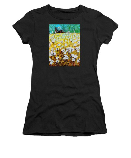 Cotton Fields Back Home Women's T-Shirt (Athletic Fit)