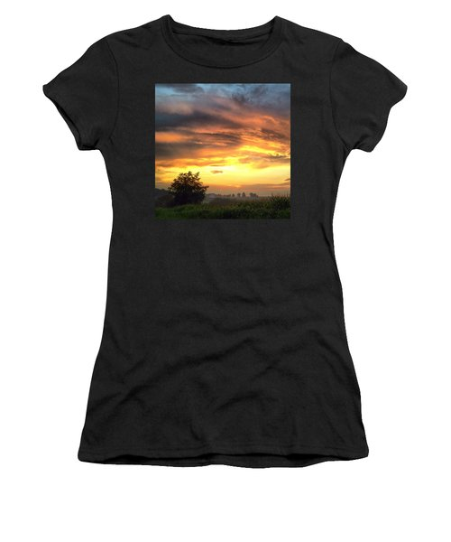 Country Scene From Hilltop To Hilltop Women's T-Shirt