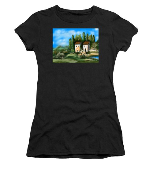 Countryside Women's T-Shirt (Junior Cut) by Christine Fournier