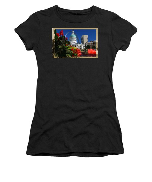Courthouse Arch Skyline Fountain Women's T-Shirt