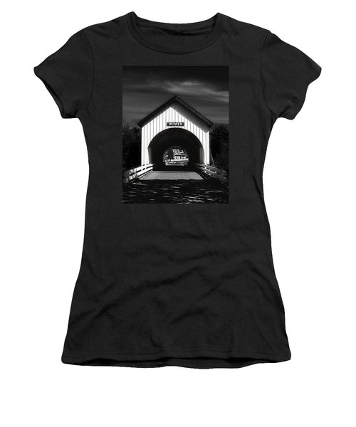 Covered Bridge Women's T-Shirt (Junior Cut) by Melanie Lankford Photography