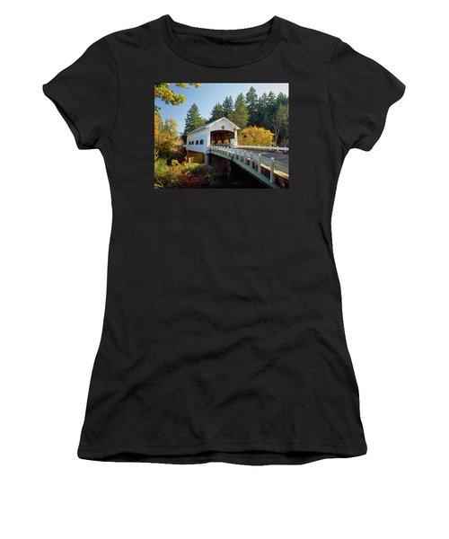 Covered Bridge Over A River, Rochester Women's T-Shirt