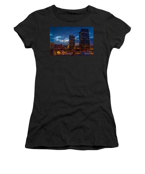 Cowtown At Night Women's T-Shirt