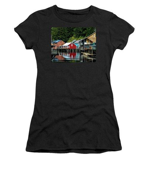 Creek Street - Ketchikan Alaska Women's T-Shirt (Athletic Fit)