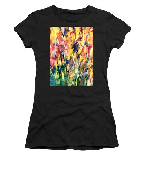 Crescendo Of Spring Abstract Women's T-Shirt