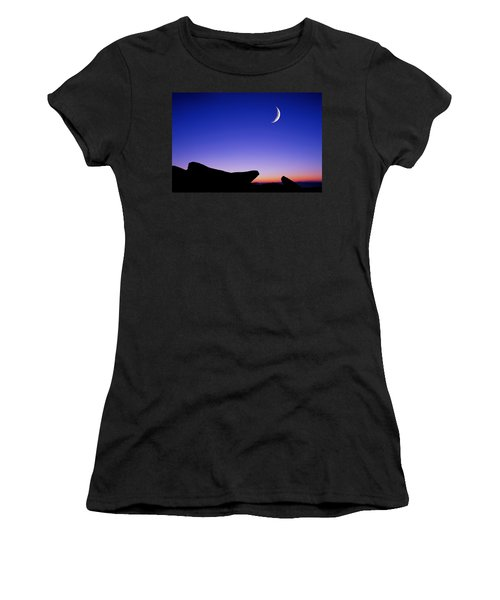 Women's T-Shirt featuring the photograph Crescent Moon Halibut Pt. by Michael Hubley