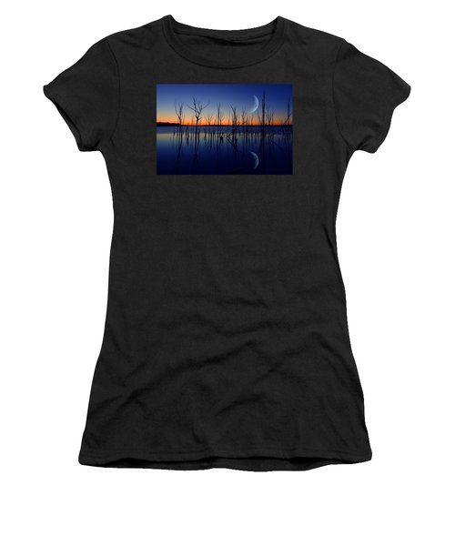 The Crescent Moon Women's T-Shirt (Athletic Fit)