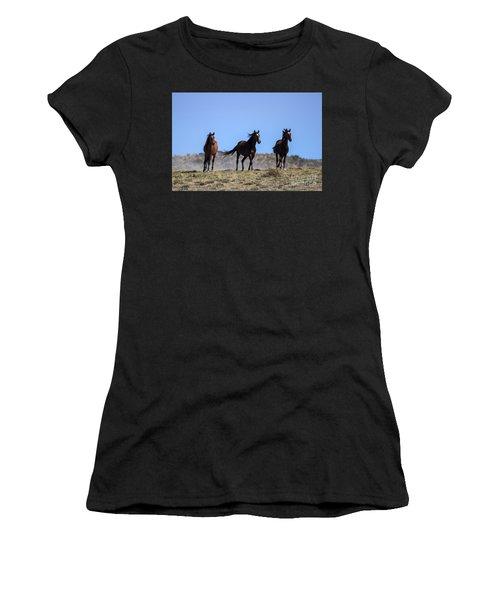 Cresting The Ridge Women's T-Shirt