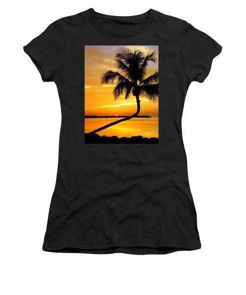 Crooked Palm Women's T-Shirt (Athletic Fit)