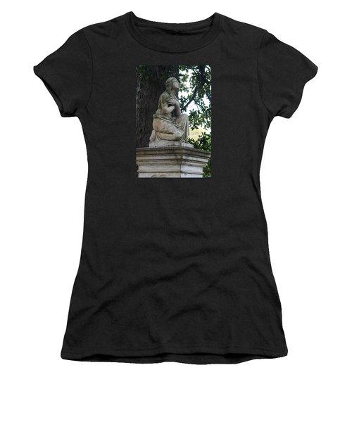 Women's T-Shirt (Junior Cut) featuring the photograph I Cross My Heart Angel by Lesa Fine