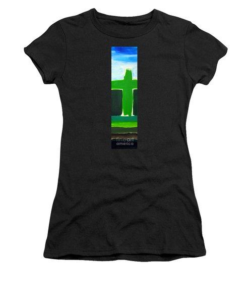 Green Cross On Hill Women's T-Shirt