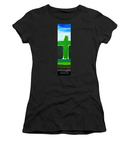 Green Cross On Hill Women's T-Shirt