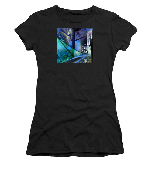 Women's T-Shirt (Junior Cut) featuring the painting Crossing Roads by Allison Ashton