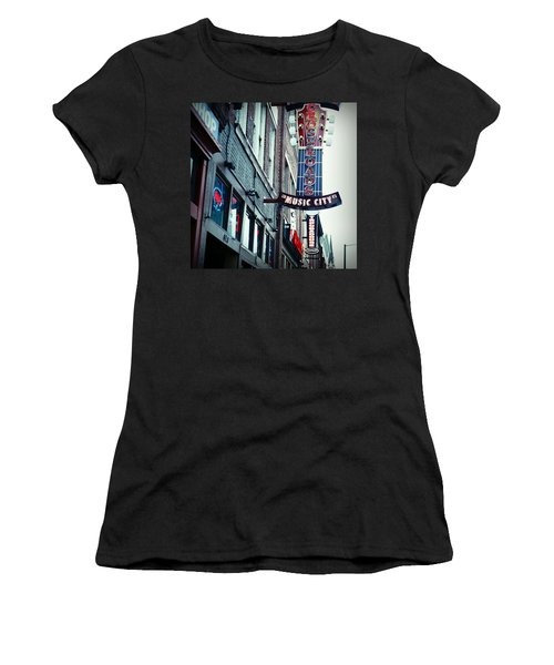 Crossroads Women's T-Shirt (Junior Cut) by Linda Unger