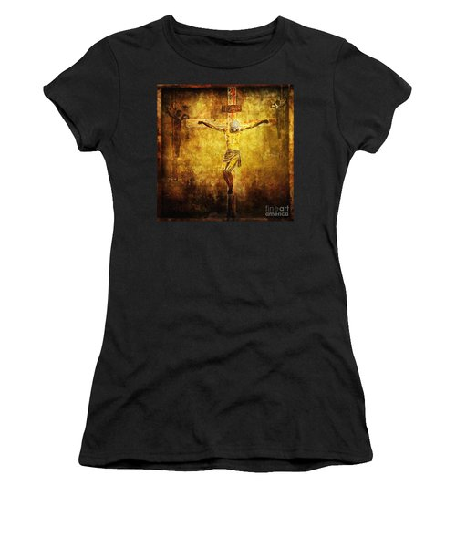 Crucified Via Dolorosa 12 Women's T-Shirt (Junior Cut) by Lianne Schneider