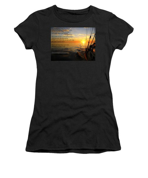Cruising Poem Women's T-Shirt (Junior Cut) by Anne Mott