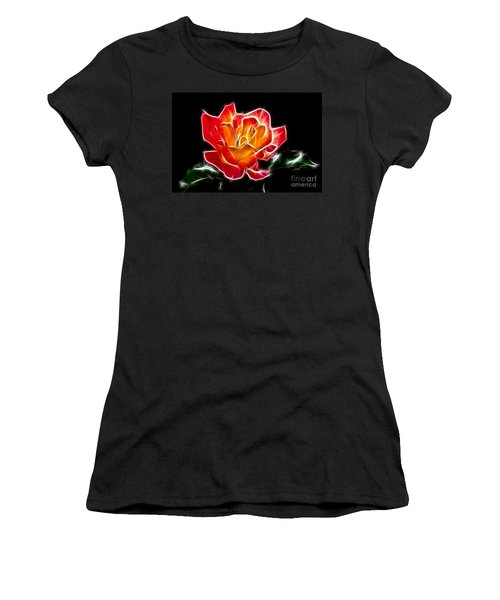 Women's T-Shirt (Junior Cut) featuring the photograph Crystal Rose by Mariola Bitner
