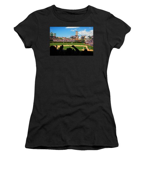 Women's T-Shirt (Junior Cut) featuring the photograph Cubs Win by James Kirkikis