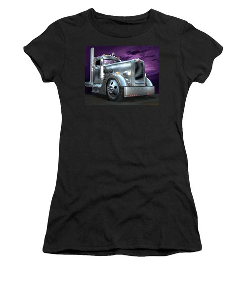 Custom Peterbilt Silver Ghost Women's T-Shirt (Athletic Fit)