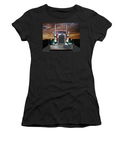 Custom Peterbilt Women's T-Shirt (Junior Cut) by Stuart Swartz