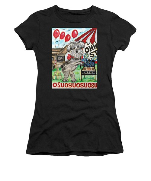 Osu Tailgating Dog Women's T-Shirt (Athletic Fit)