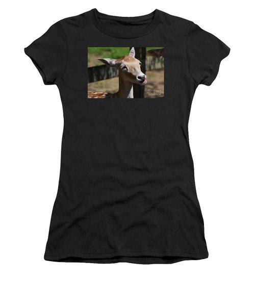 Cute Deer Women's T-Shirt (Junior Cut) by DejaVu Designs