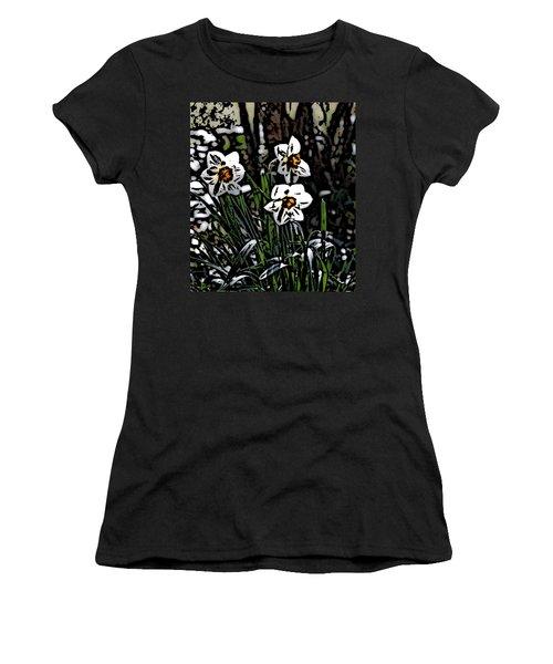Women's T-Shirt (Junior Cut) featuring the digital art Daffodil by David Lane