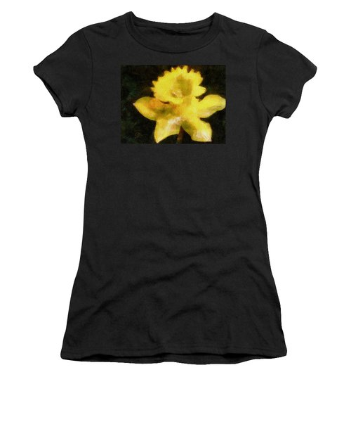Women's T-Shirt (Junior Cut) featuring the painting Daffodil by Greg Collins