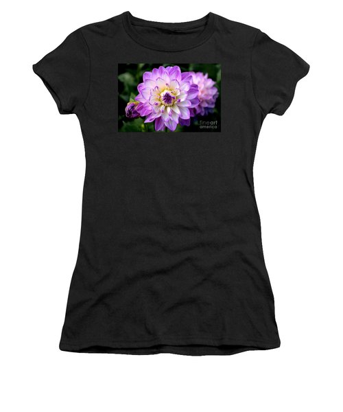 Dahlia Flower With Purple Tips Women's T-Shirt