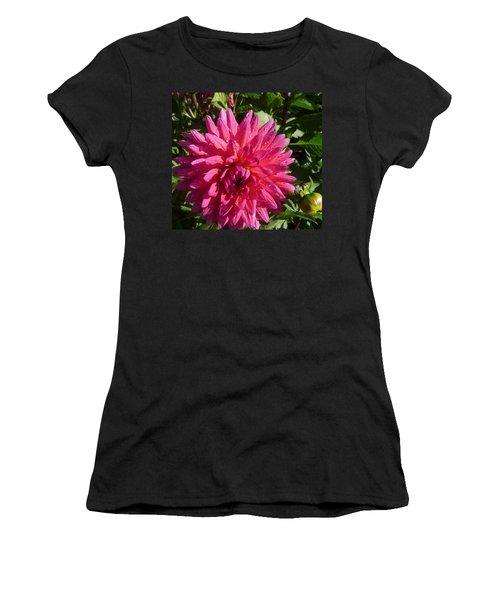 Dahlia Pink Women's T-Shirt (Junior Cut) by Susan Garren