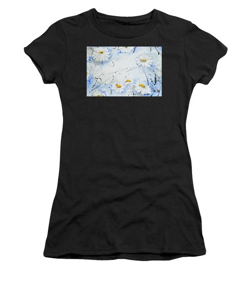 Daisies - Flower Women's T-Shirt (Athletic Fit)