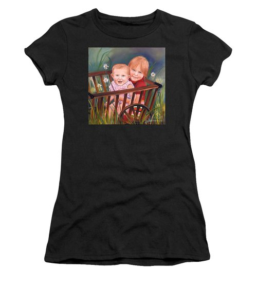 Daisy - Portrait - Girls In Wagon Women's T-Shirt (Athletic Fit)